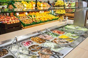 Natural food stores salad bar
